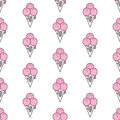Colorful seamless pattern of ice cream in pop art style. Ice cream background