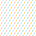 Colorful seamless pattern with line