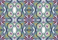 Colorful seamless pattern in mosaic mandala arabesque style. Abstract hand drawn art, stylized floral doodle background. Tribal et