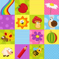Colorful seamless pattern with squares Royalty Free Stock Photo