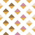 Colorful seamless pattern. Vanilla waffles with glaze and sprink