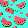Colorful seamless pattern of watermelon Royalty Free Stock Photo