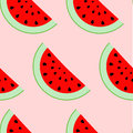 Colorful seamless pattern of watermelon slices. Royalty Free Stock Photo