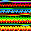 Colorful seamless vector tribal pattern illustration of a Royalty Free Stock Photo