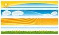 Colorful seasonal banners. Royalty Free Stock Photo