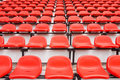 Colorful seats in stadium Royalty Free Stock Photo