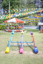 Colorful seesaw in the park