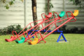 Colorful seesaw on a playground in a sunny day Stock Photography