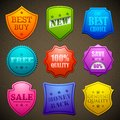 Colorful Selling Badge Royalty Free Stock Image
