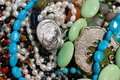 Colorful semiprecious jewels Stock Photography