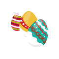 Colorful set collection easter eggs icon design Royalty Free Stock Photo