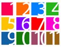 Colorful set of numbers isolated