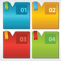 Colorful set of square banner abstract vector eps Royalty Free Stock Photos