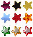 Colorful set of stars Stock Photo