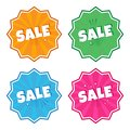 stock image of  Colorful set of stickers with inscription SALE in pop art style. Vector illustration