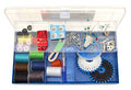 Colorful sewing kit Stock Photos