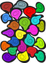 Colorful shape hand drawn stylish abstract background Stock Image