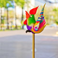 Colorful shape of rooster Royalty Free Stock Image