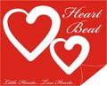 Colorful Shape web button with text Heart Beat inside illustration