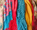 Colorful shawls Royalty Free Stock Image