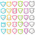 Colorful Shield Collection Royalty Free Stock Photos