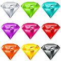 Colorful Shiny Jewels Stock Image