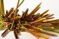 Colorful shiny screws Royalty Free Stock Image