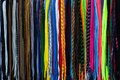 Colorful shoe laces to get up an article for sale Stock Image