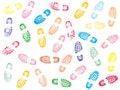 Colorful Shoe prints