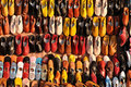 Colorful shoes for in Marrakech Stock Photo
