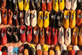 Colorful shoes in Marrakech Stock Photography
