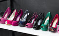 Colorful of Shoes at the Shop Royalty Free Stock Photo