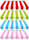 Colorful Shop Awnings Set Royalty Free Stock Image