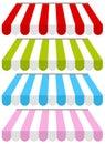 Colorful Shop Awnings Set
