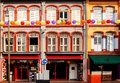 Colorful shophouses in singapore chinatown s hail from the british colonial era and combine elements of baroque and victorian Royalty Free Stock Photos