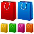 Colorful Shopping Bags Set Stock Photos