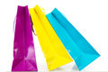 Colorful shopping bags on white background some Stock Photos