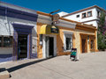 Colorful shops in small town Mexico Royalty Free Stock Images