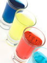 Colorful Shot Glasses Royalty Free Stock Image