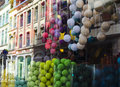 Colorful showcase background in lille Stock Images