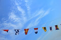 Colorful signal flags Royalty Free Stock Photo