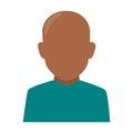 Colorful silhouette faceless half body brunette bald man