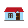 Colorful silhouette with little house