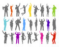 Colorful Silhouette Of Rejoice...