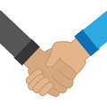 Colorful silhouette shake hands icon