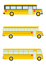 Colorful silhouettes old school bus white background Royalty Free Stock Photo
