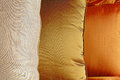 Colorful silk cushions Royalty Free Stock Photo