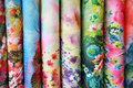 Colorful silk fabric Royalty Free Stock Photo