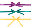 Colorful silk ribbons with bows Stock Images