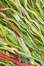 Colorful silk strips details of or fabric suitable for abstract background Stock Image